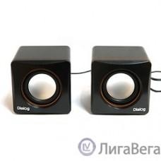 Dialog Colibri AC-04UP BLACK-ORANGE {акустические  колонки 2.0, 6W RMS, пит. от USB}