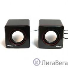 Dialog Colibri AC-04UP BLACK-RED {акустические  колонки 2.0, 6W RMS, питание от USB}