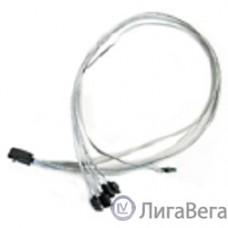 Кабель Adaptec 2279800-R {I-HDmSAS-4SATA-SB 0.8M}