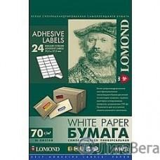 LOMOND 2100175 Универсальные этикетки Lomond белые/А4/64x33.4 мм/50 листов