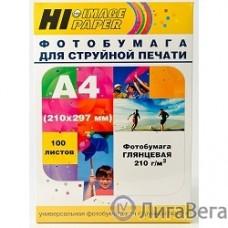 Hi-Black A200402U Фотобумага глянцевая односторонняя (Hi-image paper)  A4, 210 г/м, 100 л. (H210-A4-100)