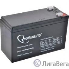 Gembird Аккумулятор для Источников Бесперебойного Питания BAT-12V7.5AH
