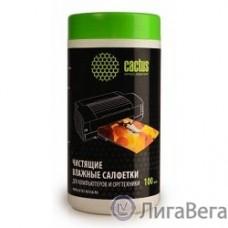 CACTUS Салфетки CS-T1002 Туба с чистящими салфетками для компьютеров и оргтехники, 100 шт