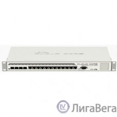 MikroTik CCR1036-12G-4S-EM Маршрутизатор Cloud Core Router with Tilera Tile-Gx36 CPU (36-cores, 1.2Ghz per core), 16GB RAM, 4xSFP cage, 12xGbit LAN, RouterOS L6, 1U rackmount case, PSU, LCD panel