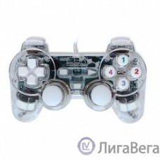 CBR CBG 915 {Игровой манипулятор для PC, проводной, 2 вибро мотора, подстветка, прозрачный, USB}