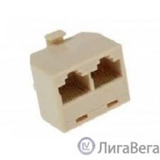 VCOM VTE7714 Переходник-разветвитель 8P8C Plug/2-8P8C Jack