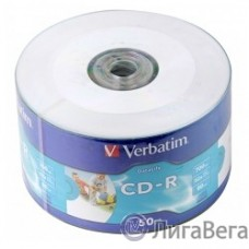 Verbatim  Диски CD-R  80min, 700mb, 52x Shrink/50 Ink Print [43794]