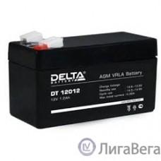 Delta DT 12012 (1.2 А\ч, 12В) свинцово- кислотный аккумулятор