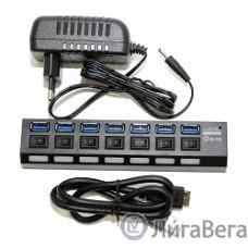 5bites HB37-303PBK Концентратор 7*USB3.0 / БП 5В-2А / 1.2M / BLACK