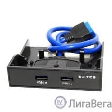 5bites  FP183P  Панель лицевая в 3.5″ отсек корпуса ПК, 2*USB3.0