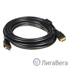 5bites APC-014-050 Кабель  HDMI M / HDMI M V1.4b, высокоскоростной, ethernet+3D, зол.разъемы, ферр.кольца, 5м.