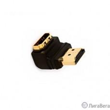 5bites HA1005 Переходник HDMI M / HDMI F 90°, зол.разъемы, Г-образный