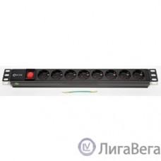 5bites PDU819A-07 Блок розеток  8S / AL / SWITCH / 1U / 19″