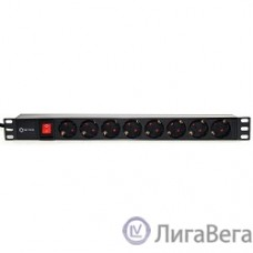 5bites PDU819P-01 Блок розеток  8S / PVC / SWITCH / 1U / 19″ / 2M*3G*1.5MM2 / VDE