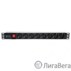 5bites PDU819P-08 Блок розеток  8S / PVC / SWITCH / 1U / 19″