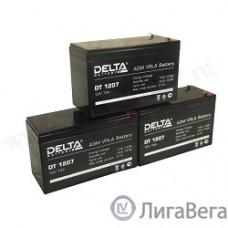 Delta DT 1207 (7 А\ч, 12В) свинцово- кислотный аккумулятор