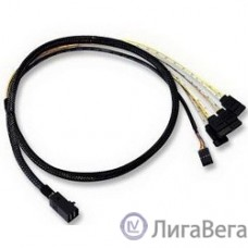 LSI (LSI00410) Logic Кабель Кабель MINI SAS HD internal cable SFF8643 to x4 SATA 0,6м