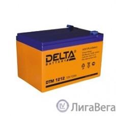 Delta DTM 1212  (12 А\ч, 12В) свинцово- кислотный аккумулятор