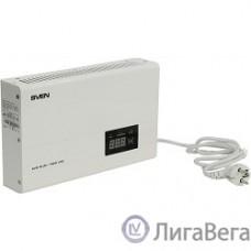 SVEN Стабилизатор напряжения AVR SLIM-1000 LCD белый