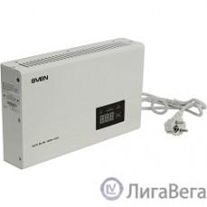 SVEN Стабилизатор напряжения AVR SLIM-500 LCD белый