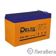 Delta DTM 1207  (7 А\ч, 12В) свинцово- кислотный аккумулятор