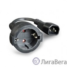 Gembird/Cablexpert  Удлинитель кабеля питания C14 - евро-розетка (PC-SFC14M-01)