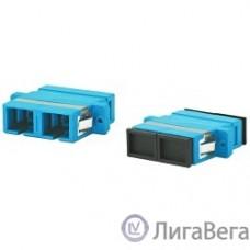 Hyperline FA-P11Z-DSC/DSC-N/BK-BL Оптический проходной адаптер SC/UPC-SC/UPC, SM, duplex, корпус пластиковый, синий, черные колпачки