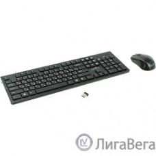 Oklick 250M Black USB Клавиатура + мышь, беспроводная slim [997834]