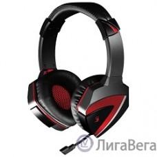 A4 G501, черно(красные)  {Наушники с микрофоном, 2.2м}