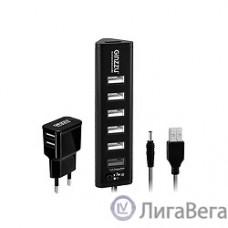 HUB GR-315UAB Ginzzu USB 3.0/2.0, 7 port(1xUSB3.0+6xUSB2.0)+adp