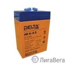 Delta HR 6-4.5 (4.5 А\ч, 6В) свинцово- кислотный аккумулятор