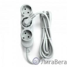 PowerCube Удлинитель бытовой (PC-Y-5-32-5) 10А, 5м, 3 роз.с/з+2 роз.б/з,2200Вт, 1,00 мм2