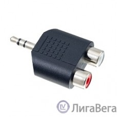 PERFEO Переходник Jack 3.5 мм (стерео) вилка - 2xRCA розетка (A7012)