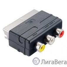 PERFEO Переходник SCART (21 pin) вилка ″IN″ - 3xRCA розетка, видео + стерео-аудио (A7007)