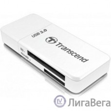 USB 3.0 Multi-Card Reader F5 All in 1 Transcend [TS-RDF5W] White