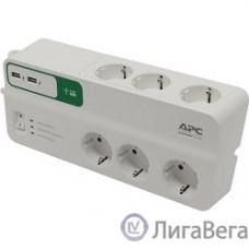 APC PM6U-RS сетевой фильтр 2м, белый