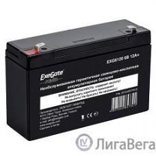 Exegate EP234537RUS Аккумуляторная батарея  Exegate EG12-6 / EXG6120, 6В 12Ач, клеммы F1 (универсальные)