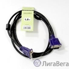 TV-COM Кабель соединительный (QCG120H-1.8M) SVGA (15M/M) 1,8m 2 фильтра [6939510844122]
