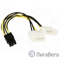 Bion Разветвитель питания  2xMolex->PCI-E 6pin, для подключения видеокарты к блоку питания   [Бион][BNCC-PSU-6]