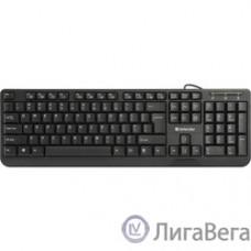 Defender OfficeMate HM-710 RU Black USB [45710] {Проводная клавиатура, полноразмерная, 104кн}