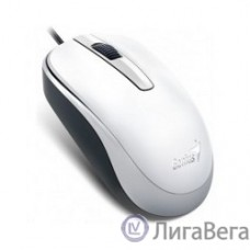 Genius DX-120 White {мышь оптическая, 1000 dpi, 3 кнопки+колесо прокрутки, провод 1,5 м, USB} [31010105102]