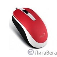 Genius DX-120 Red {мышь оптическая, 1000 dpi, 3 кнопки+колесо прокрутки, провод 1,5 м, USB} [31010105104]