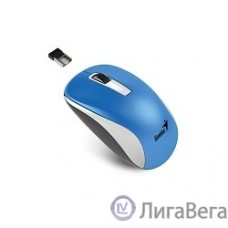 Genius Мышь NX-7010 White/Blue { оптическая, 800/1200/1600 dpi, радио 2,4 Ггц, 1хАА, USB} [31030114110]