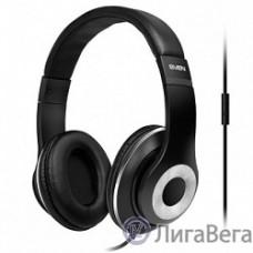 SVEN AP-930M черный-серебро {Разъем 3,5 мм, Поддержка функций управления плеером, Поддержка функции hands-free, Микрофон на кабеле, Улучшенная система передачи звука}