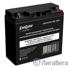 Exegate EP234540RUS Аккумуляторная батарея  Exegate Power EXG12180, 12В 18Ач, клеммы под болт M5