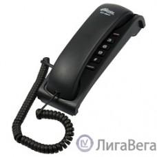RITMIX RT-007 black проводной телефон {повторный набор номера, настенная установка, регулятор громкости звонка}