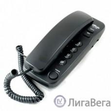RITMIX RT-100 black проводной телефон {повторный набор номера, настенная установка, кнопка выключения микрофона, регулятор громкости звонка}