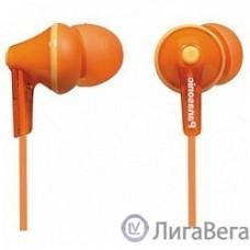 Panasonic RP-HJE125E-D вкладыши канальные, оранжевые