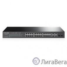 TP-Link T1500-28PCT Smart Коммутатор PoE+ на 24 порта 10/100 Мбит/с и 4 гигабитных порта SMB