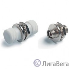 Hyperline FA-S00Z-FC/FC-N/WH-SL Оптический проходной адаптер FC/UPC-FC/UPC, SM/MM, simplex, корпус металл, белые колпачки